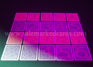 invisible ink marked cards for contact lenses